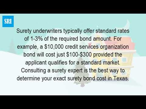 How Much Is A Surety Bond In Texas?