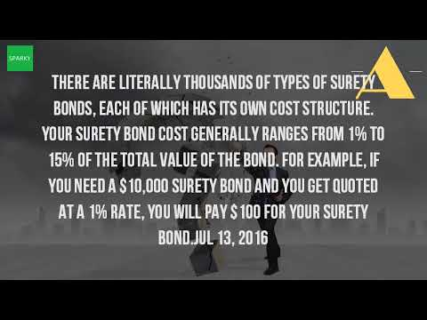 How Much Does It Cost To Get A 10000 Surety Bond?